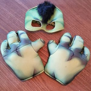 hulk hands ans mask, toddler 2-4t